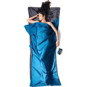 Cocoon TravelSheet Seta, blu/grigio